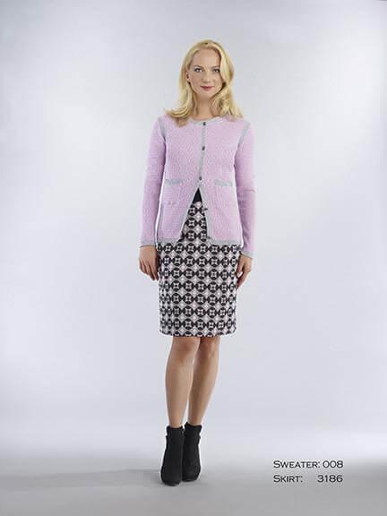 Bigio - Gray Mauve Medallion Skirt