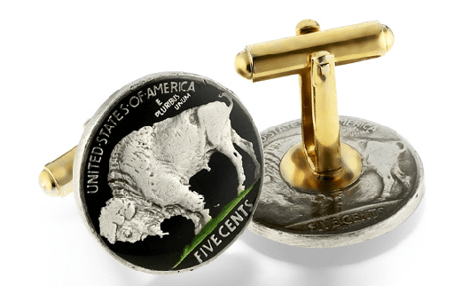 Everard's-Cufflinks-Coins-USA-Buffalo-Nickel