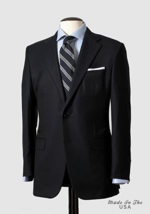 Hickey Freeman Suit Navy Tasmanian 1