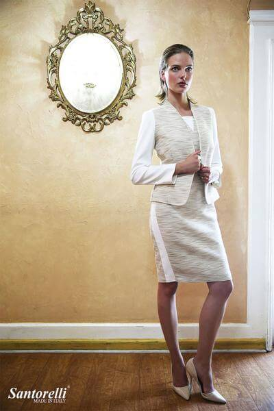 Santorelli - Ivory Tweed Jacket