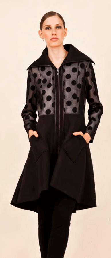 polka coat
