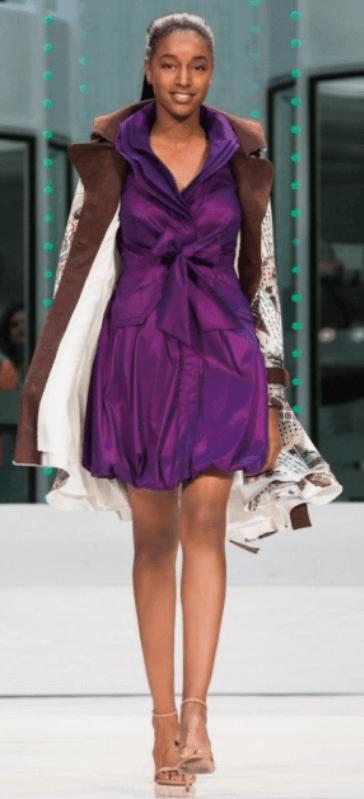 dong dress violet