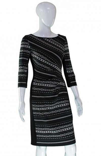 ee8b1007047 Joseph Ribkoff. Black   White Print Dress
