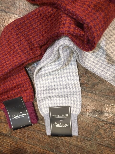 Cashmere Houndstooth Socks Everards Clothing