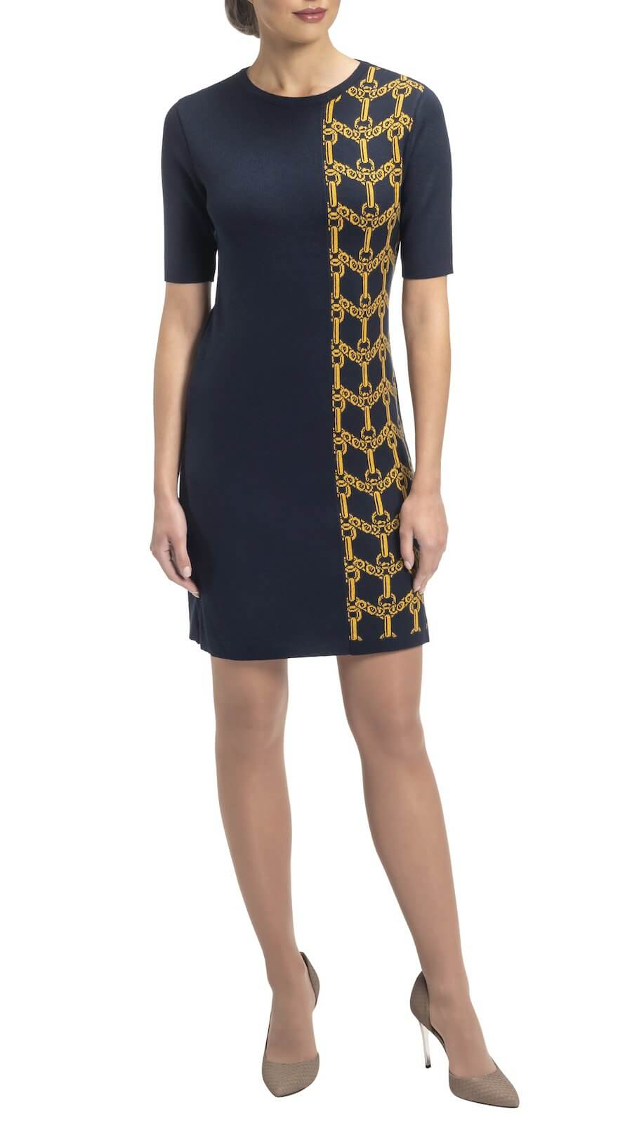 Jannie_Dress_822_Navy_Gold_front_cropped