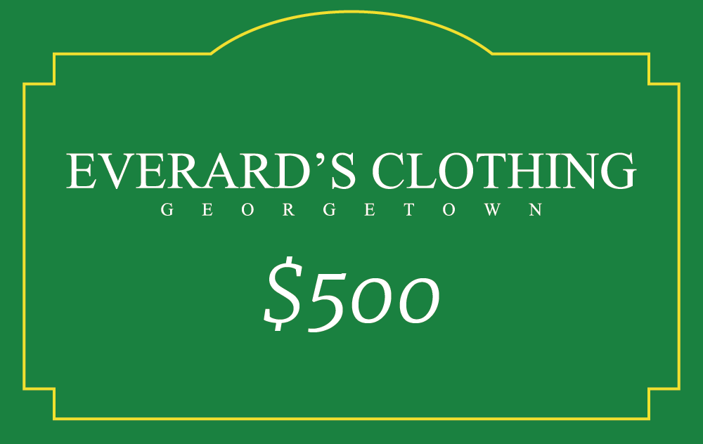 Everard's Clothing Gift Card [500] [front]